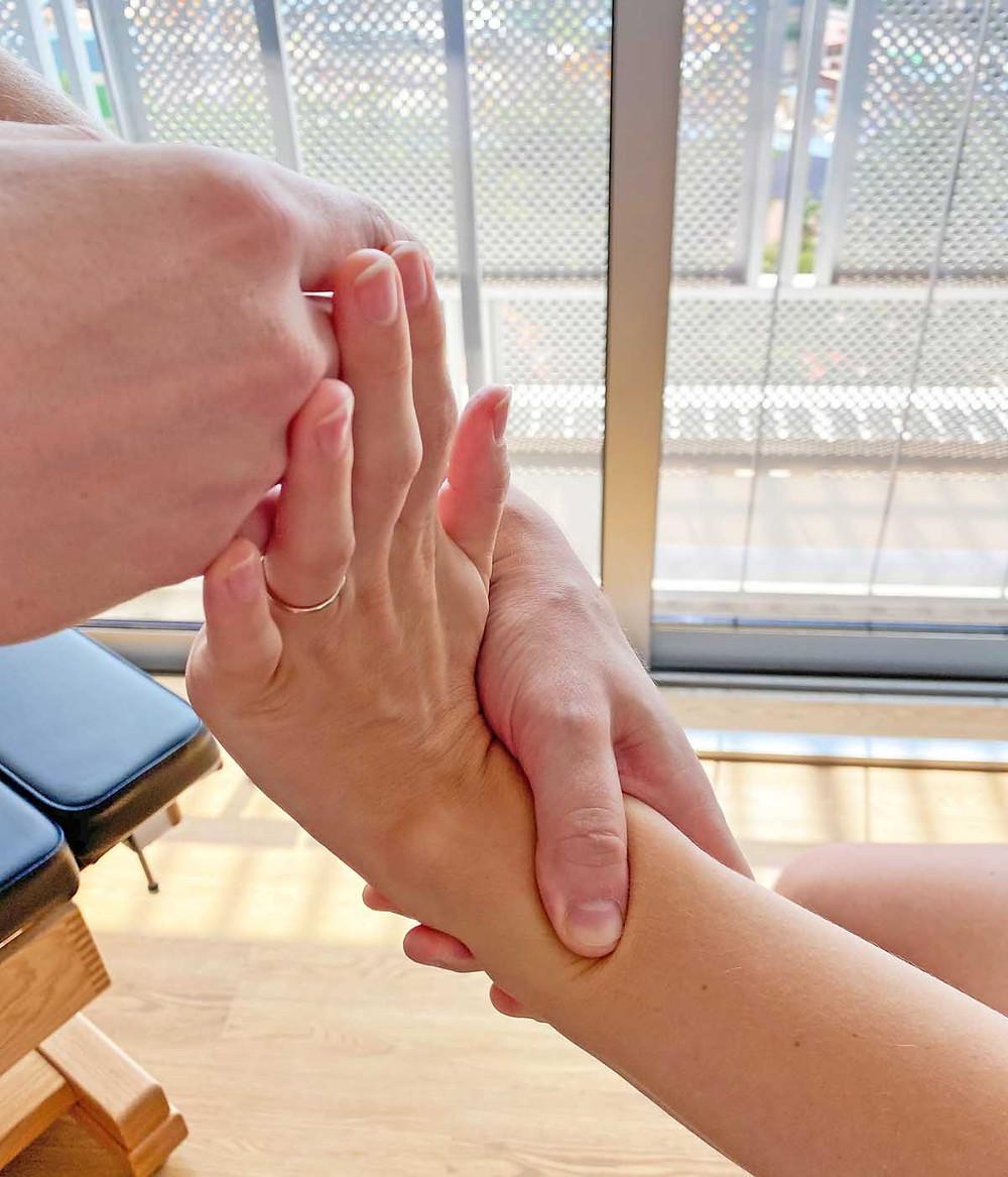 Muscle release technique M.R.T. for wrist pain