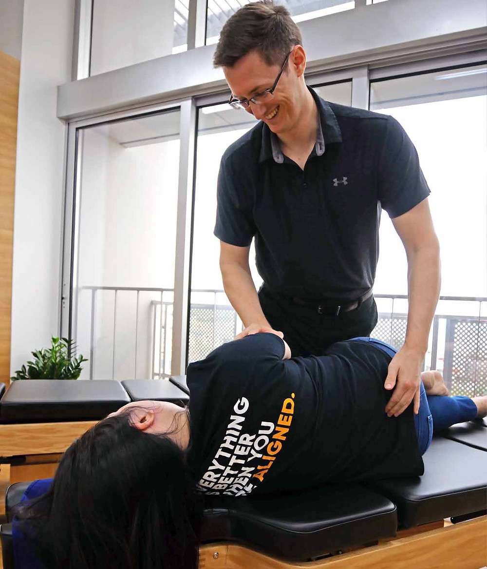 Dr. Jason Rutkauskas Chiropracitc adjustment low back pain