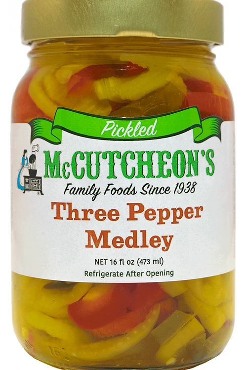 McCutcheon's® Hot 3 Pepper Medley, 16 oz.