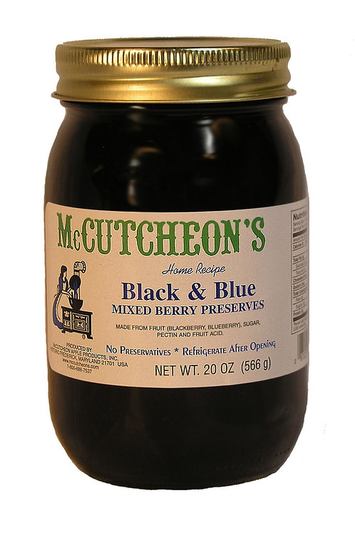McCutcheon's Black and Blue Preserves, 20 oz