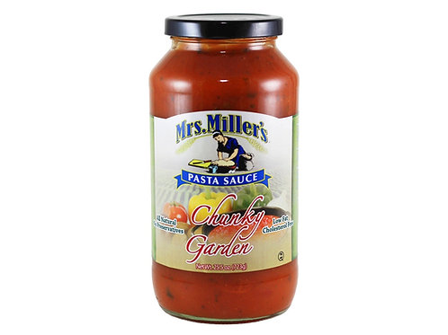 Mrs. Miller's Chunky Garden Pasta Sauce, 25.5 oz.