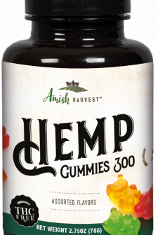 Yoder Naturals Hemp CBD Gummies 300 mg.