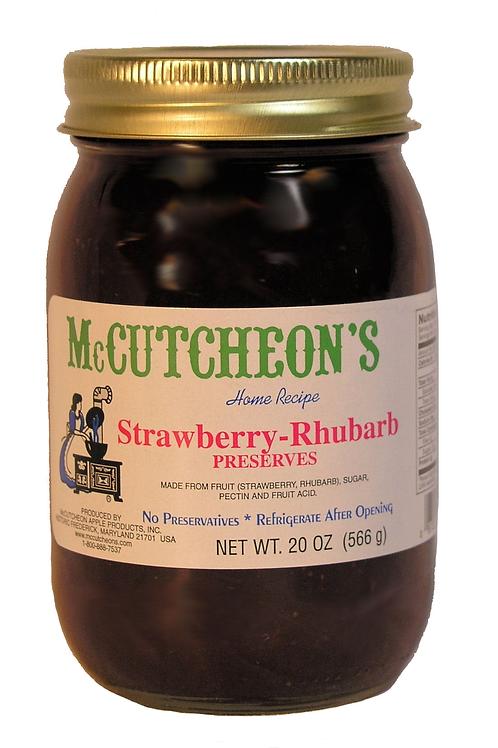 McCutcheon's Strawberry Rhubarb Preserves, 20 oz