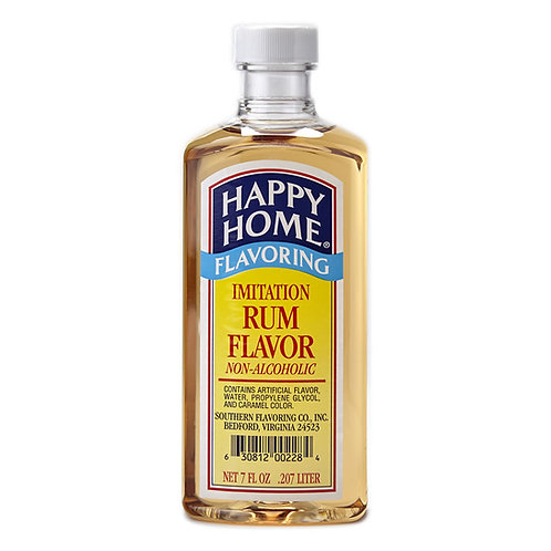 Happy Home Imitation Rum Flavoring 7 oz.