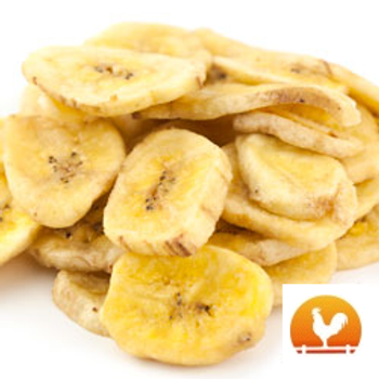 Unsweetened Banana Chips, .50 Lb