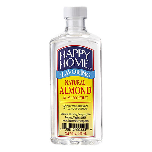 Happy Home Natural Almond Flavoring 7 oz.