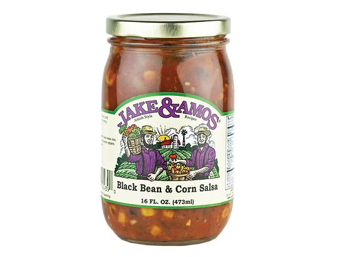 Jake &  Amos® Black Bean and Corn Salsa, 16 oz.