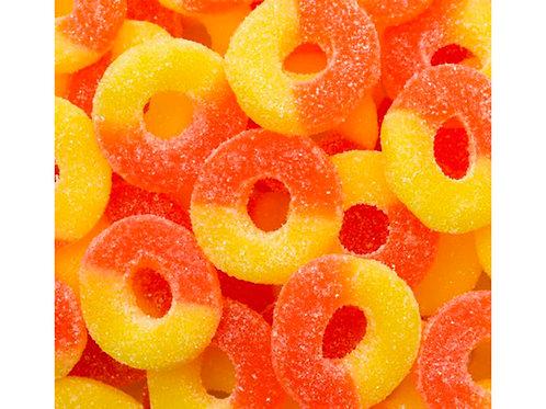 Gummi Peach Rings, .65 Lb