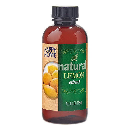 Happy Home Natural Lemon Extract 4 oz.