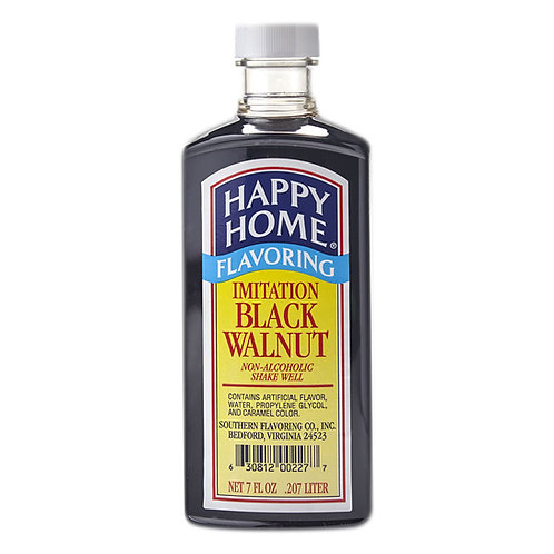 Happy Home Imitation Black Walnut Flavoring 7 oz.