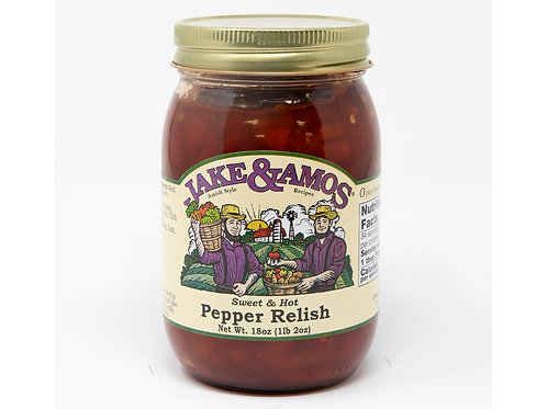 Jake &  Amos® Sweet and Hot Pepper Relish, 18 oz.