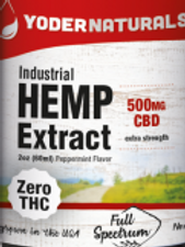 Yoders Naturals Industrial Hemp Extract,500mg, 1oz(30ml)