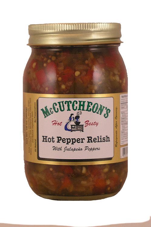 McCutcheon's Hot Red Pepper Relish, 16 oz.