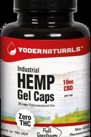 Yoders Naturals Industrial Hemp Gel Caps 10mg, 30 caps