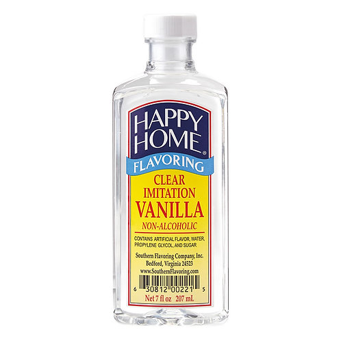 Happy Home Clear Imitation Vanilla 7 oz.