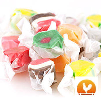 Assorted Whipped Salt Water Taffy, .50 Lb