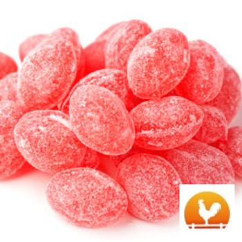 Claey's Sanded Raspberry Drops, .75 Lb