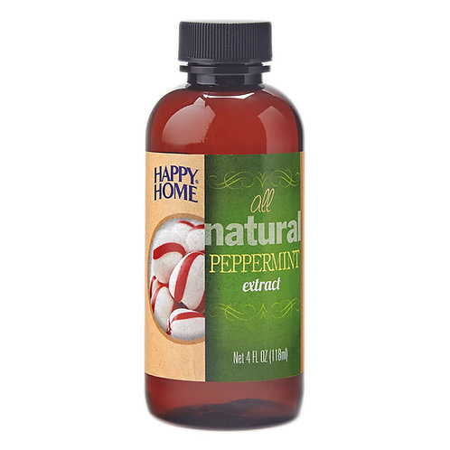Happy Home Natural Peppermint Extract 4 oz.