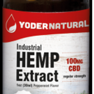 Yoders Naturals Industrial Hemp Extract,100mg, 1oz(30ml)