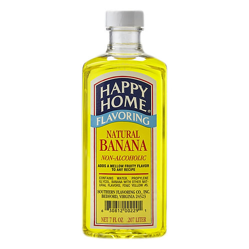 Happy Home Natural Banana Flavoring 7 oz.