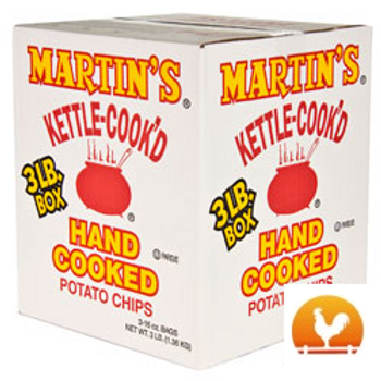 Martin's Kettle Cooked Potato Chips, 3 Lb