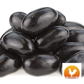 Jumbo Black Licorice Jelly Beans, .95 lb.