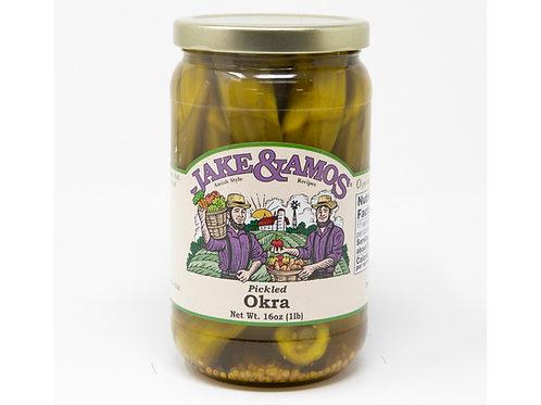 Jake & Amos® Pickled Okra, 16 Oz