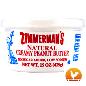 Zimmermans's® Natural Peanut Butter, 15 Oz