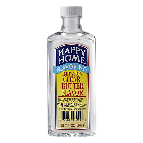 Happy Home Imitation Clear Butter Flavor 7 oz.