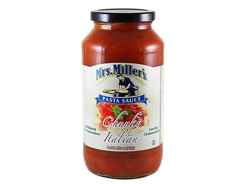 Mrs. Miller's Chunky Italian Pasta Sauce, 25.5 oz.