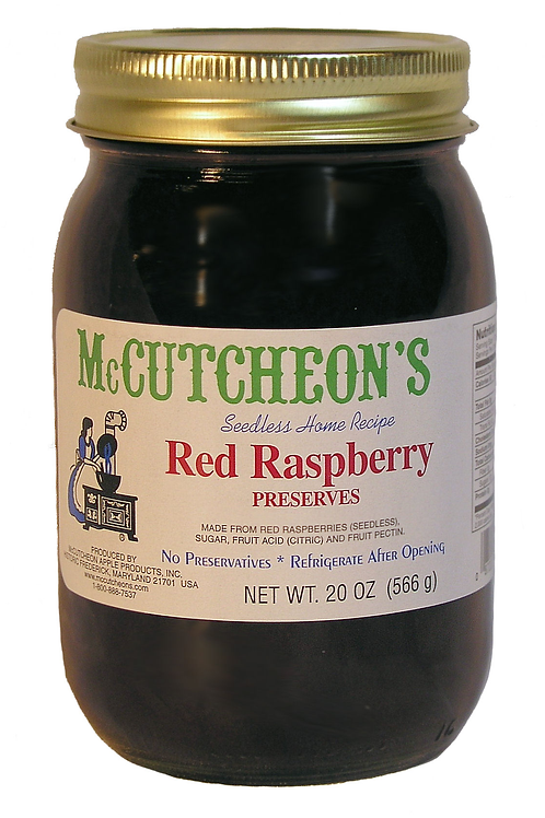 McCutcheon's Red Raspberry Preserves, 20 oz