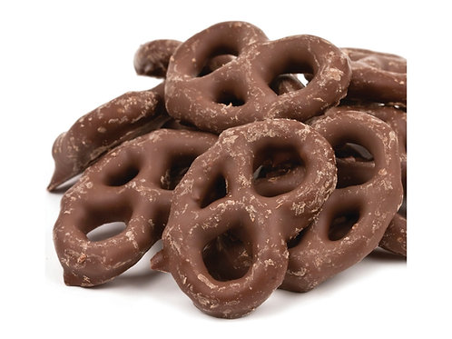 Chocolate Coated Mini Pretzels .75 lb.