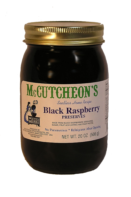 McCutcheon's Black Raspberry Preserves, 20 oz