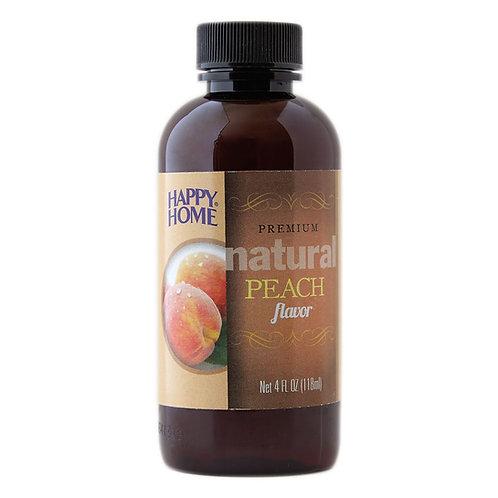 Happy Home Natural Peach Flavor 4 oz.