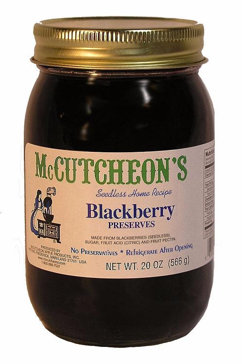 McCutcheon's Blackberry Preserves, 20 oz