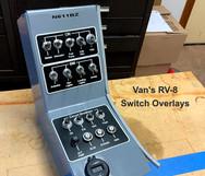 Van's RV-8 Switchs Overlay
