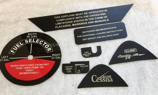 Aircraft Placards
