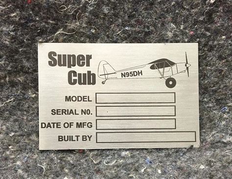 Aircraft Data Plate