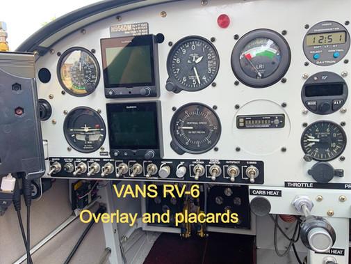 Vans RV 6 overlay