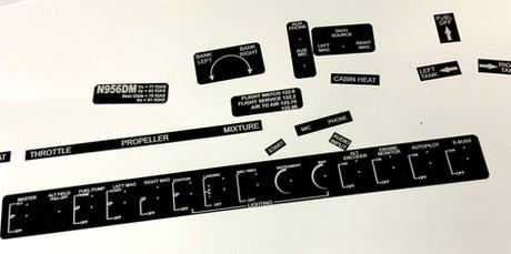 Van's RV 6 replacement Placards