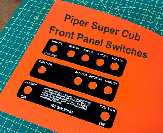 Piper Super Cub Switch panel overlays
