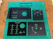 Piper Super Cub Engrave Panel