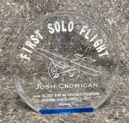First Solo Flight Milestone
