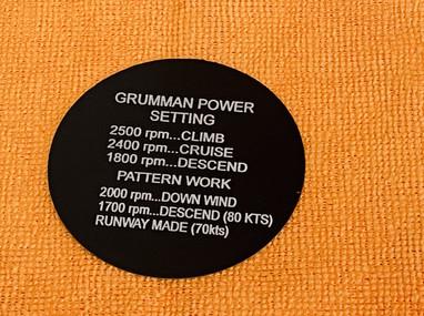 Grumman AA-5B Placard