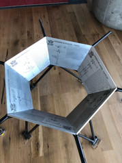 Aluminum Engrave Table Base