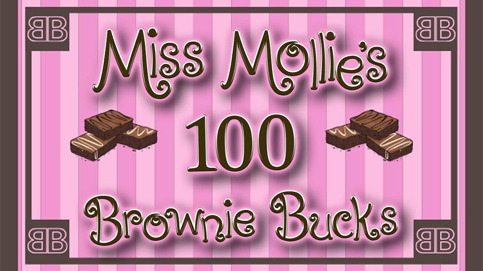 100 Brownie Bucks