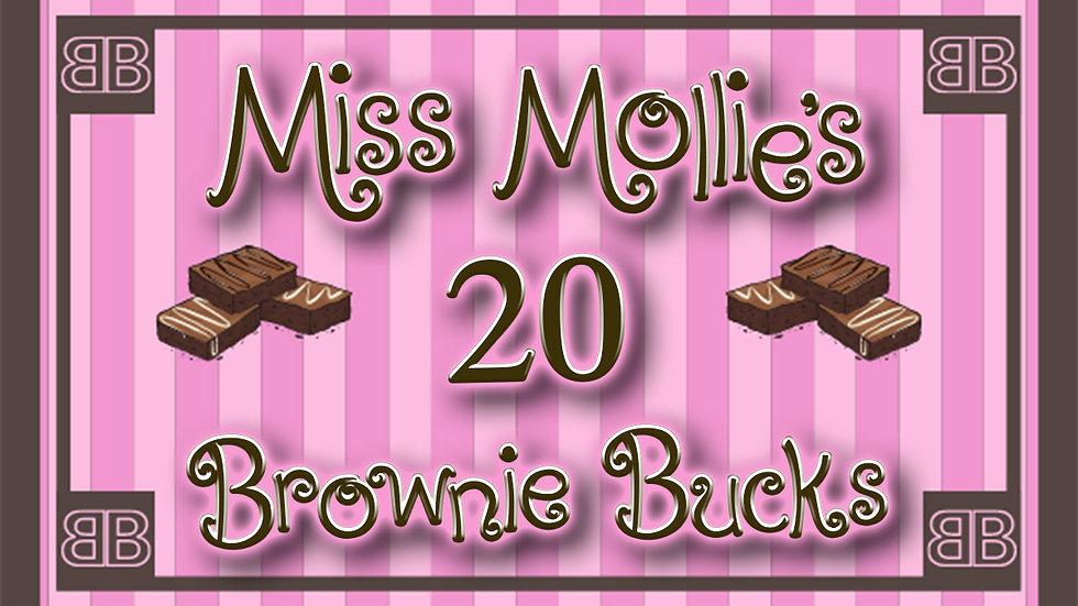 20 Brownie Bucks