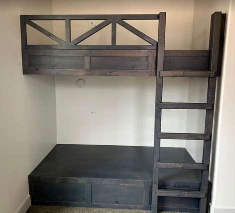 Stained Bunk Beds