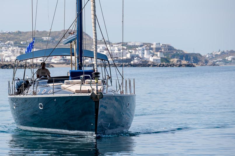 Sailing around.