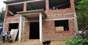 中国の田舎で外壁だけの家が増殖中